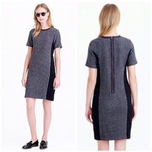 J. Crew Mixed Hounds Tooth Shift Dress Size 12